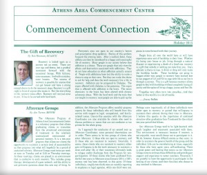 Athens Area Commencement Center Newsletter